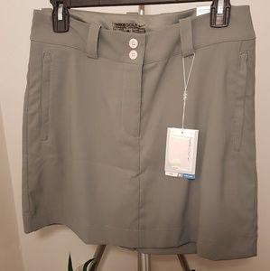 NWT, Nike Dri-fit Golf Skirt, Zip Pockets, Gray
